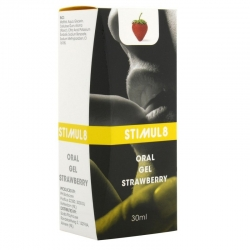 """Oralinio sekso gelis """"Stimul8 - braškė"""""""